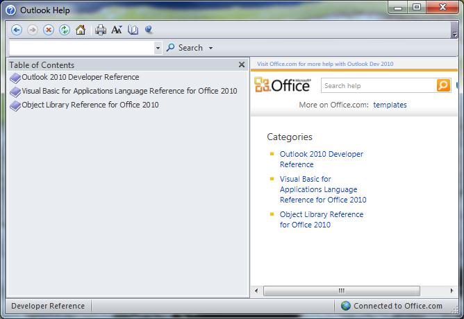 The Office Help window.