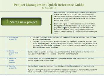 project management quick reference guide