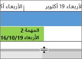تنقسم الخط ضمن الخط الزمني طرق العرض