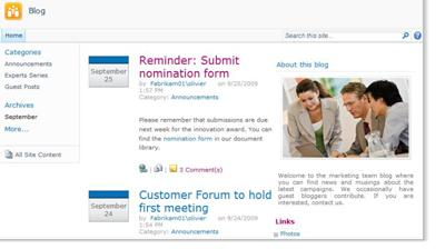 موقع المدوّنة