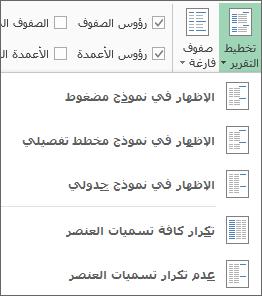 تخطيط التقرير