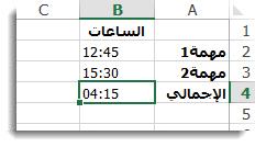 الوقت المضاف الذي يزيد عن 24ساعة يبلغ في مجموعه نتيجة غير متوقعة من 4:15