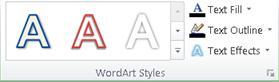 شكل شريط Excel