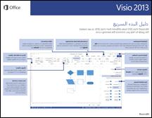 دليل البدء السريع لـ Visio 2013
