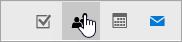 """لقطة شاشة لزر """"الأشخاص"""" في أسفل جزء التنقل."""