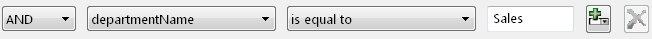 تعبير بسيط لعامل تصفية طريقة عرض