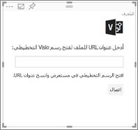 إدخال عنوان URL في مربع النص