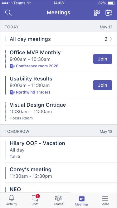 الاجتماعات القادمة