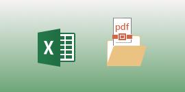 عرض ملفات PDF في Excel for Android