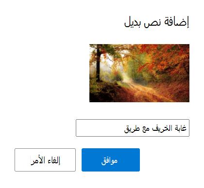 أضف نصا بديلا إلى الصور في Outlook.