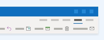 يتضمن outlook أسلوب عمل مستخدم جديد.