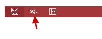 طريقة عرض SQL على شريط الأدوات