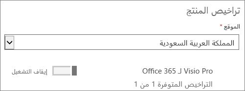 إزالة ترخيص مستخدم لمستخدم فردي.