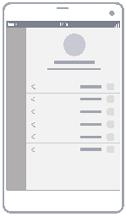 رسم تخطيطي لملف تعريف المستخدم بشكل أسلاك محيطة