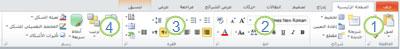 """علامة التبويب """"الصفحة الرئيسية"""" في شريط PowerPoint 2010"""