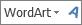 أيقونة WordArt متوسط