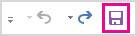"""الزر """"حفظ"""" على """"شريط أدوات الوصول السريع"""""""