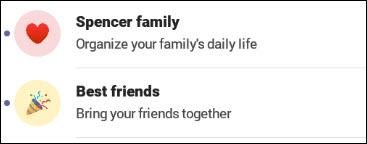 Teams توضيحي للعائلة والأصدقاء