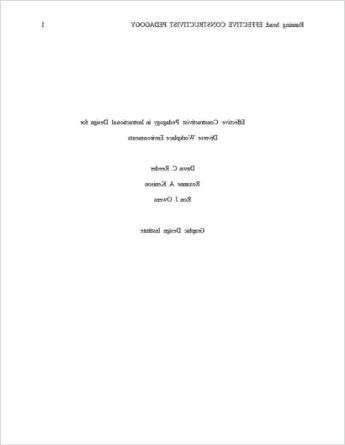 قالب ورق APA