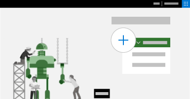 """صورة تصورية للصفحة الرئيسية لـ Project مع فتح القائمة """"إنشاء"""""""