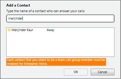 إضافة مكالمة الفريق