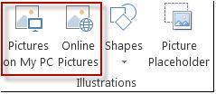 مجموعة التوضيحات في Publisher 2013
