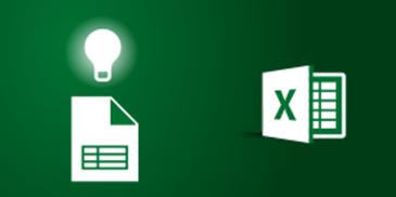 أيقونات Excel وورقة عمل مع مصباح إضاءة