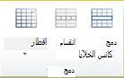 """مجموعة """"دمج الجدول"""" في Publisher 2010"""