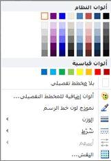خيارات تنسيق المخطط التفصيلي لشكل WordArt في Publisher 2010