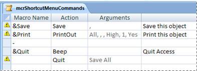 """مجموعة قائمة ماكرو في طريقة عرض """"التصميم"""""""