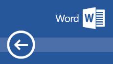 التدريب على Word 2016