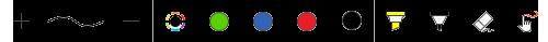 """أدوات الحبر الأساسية ضمن علامة التبويب """"رسم"""" في تطبيقات Office للأجهزة المحمولة"""