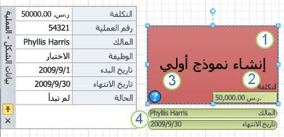 شكل معالجة مع تطبيق رسم بيانات.