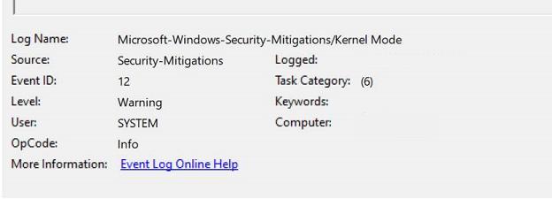 Microsoft-Windows-Security-Mitigations/وضع Kernel