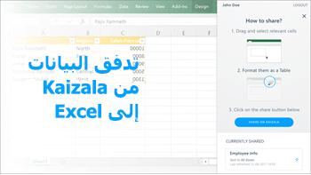 لقطه شاشه: نشر الجدول ب# استخدام بيانات من الاستطلاع