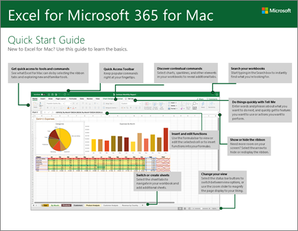 دليل البدء السريع لـ Excel 2016 for Mac