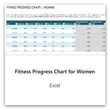 حدد هذا الخيار للحصول على قالب مخطط التقدم في اللياقة البدنية للسيدات.