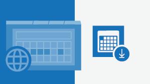 ورقة المعلومات المرجعية في تقويم Outlook عبر الإنترنت