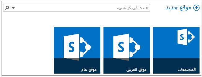 """مثال للصفحة """"المواقع"""" التي تحتوي على 3 مواقع تمت ترقيتها"""