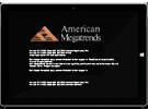 شاشة خيارات أمان TPM لـ American Megatrends