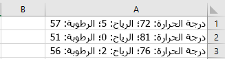 الخلايا في Excel