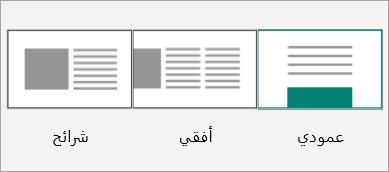 لقطة شاشة لصور مصغرة لتخطيط Sway.