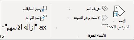 """المجموعة """"الأسماء المعرفة"""" علي الشريط"""
