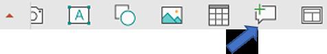 """امر """"تعليق جديد"""" يحتوي علي شريط الادوات العائم في PowerPoint for Android"""