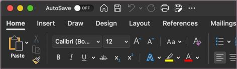 نسق داكن ل Word في macOS
