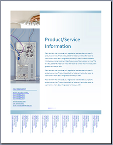 قالب نشرة إعلانية (تصميم أزرق فاتح) في Office Online