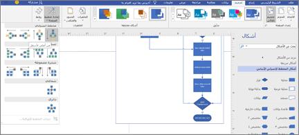 مخطط انسيابي مع مجموعه متنوعة من خيارات التصميم والتخطيط