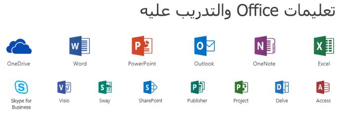 خيارات الدعم ل Microsoft Office