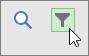 لقطة شاشة لزر التصفية في عرض لوحة المهام.