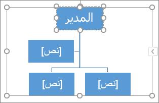 الكتابة في مربع في رسم SmartArt